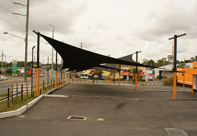 Shade sail car park