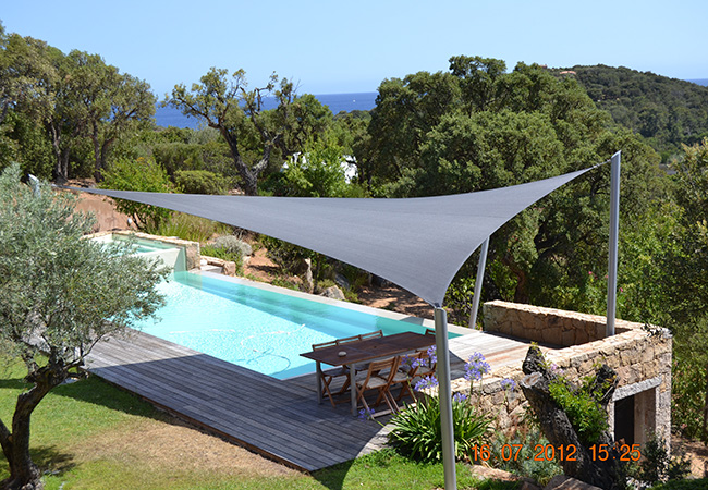Shade sail installation Cannes