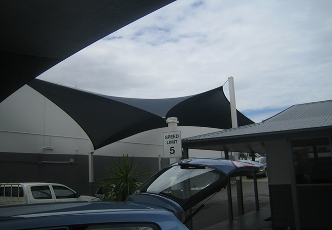 Car park shade sails