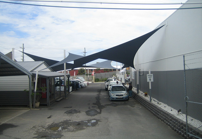 shading fabric carport