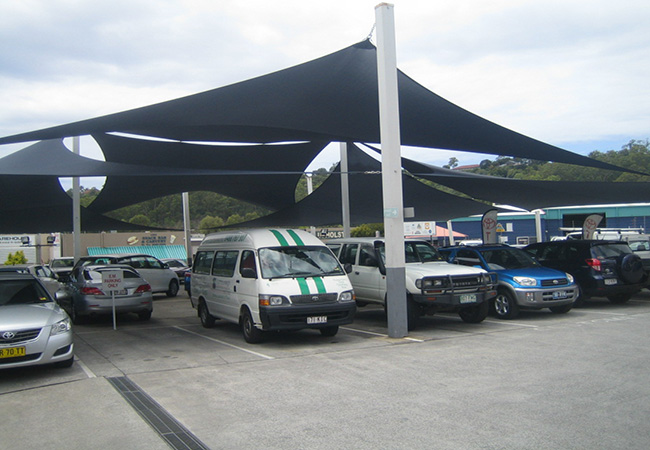 car park sun shade fabric