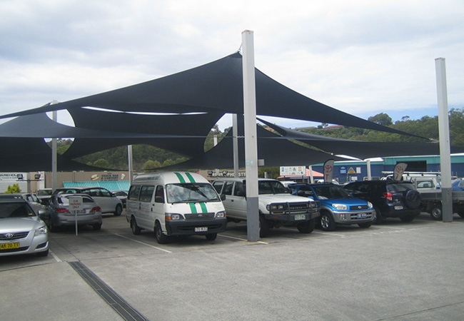 shade sail for car park lot