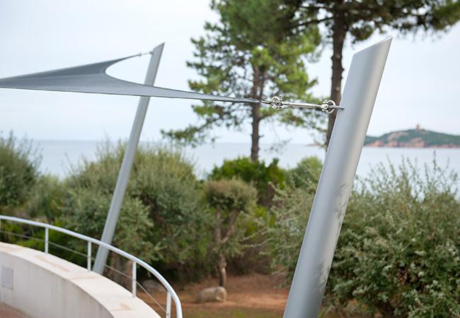 French shade sail posts
