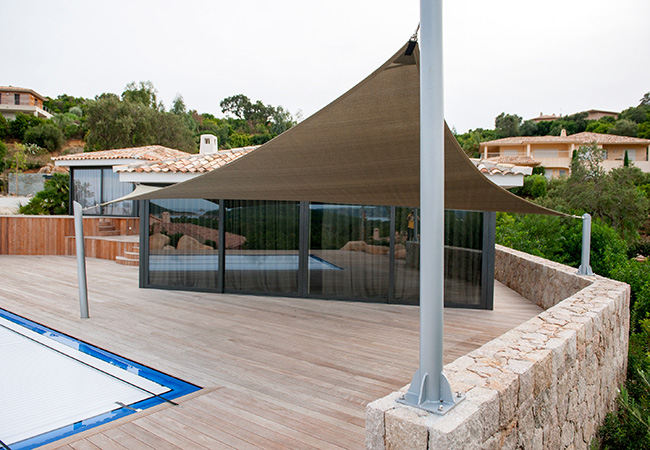 Toile solaire pour terrasse
