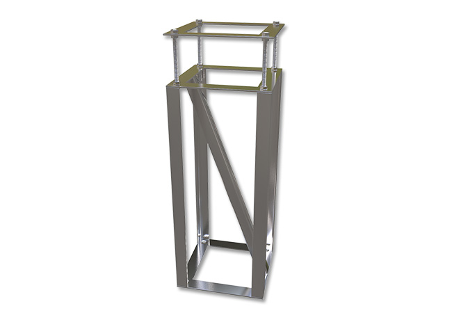 cage poteau voile ombrage