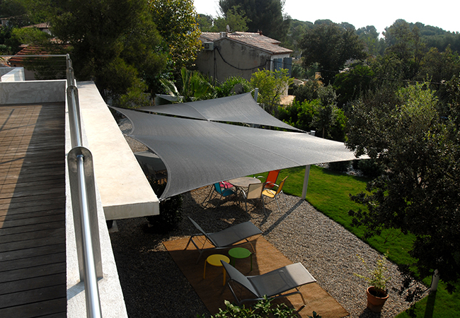 Toile protection terrasse
