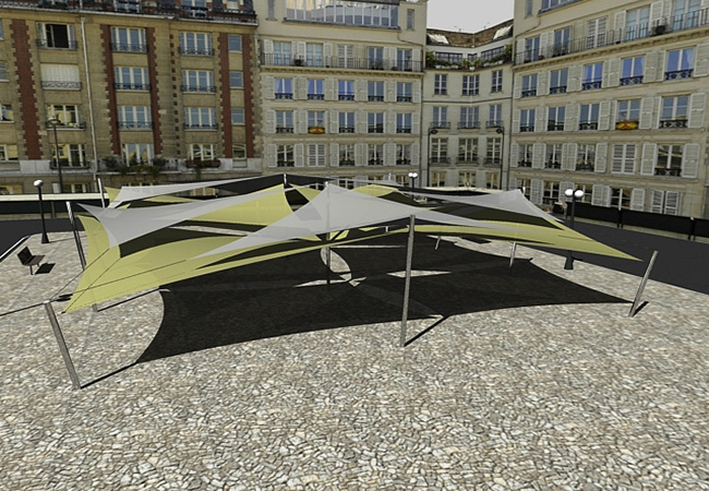 shade sail 3 dimension structure