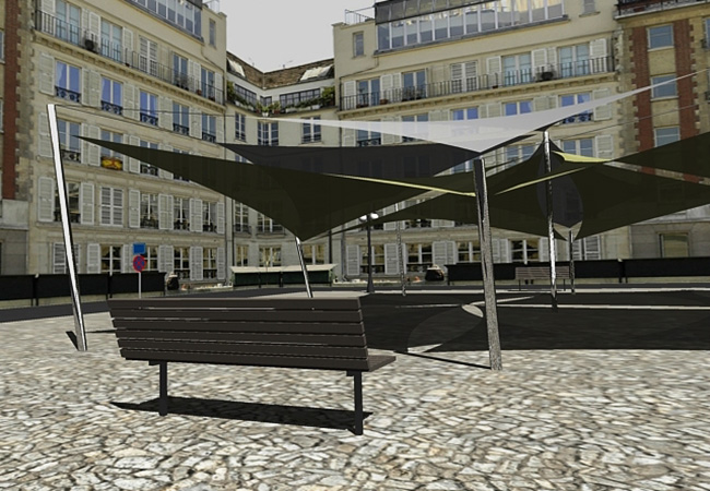 shade sail template Grenoble