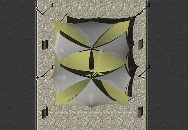 Shade sail top view market