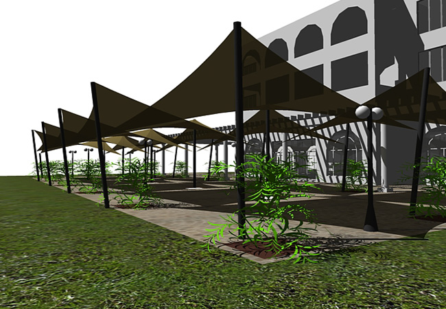 Shade sail Hotel project